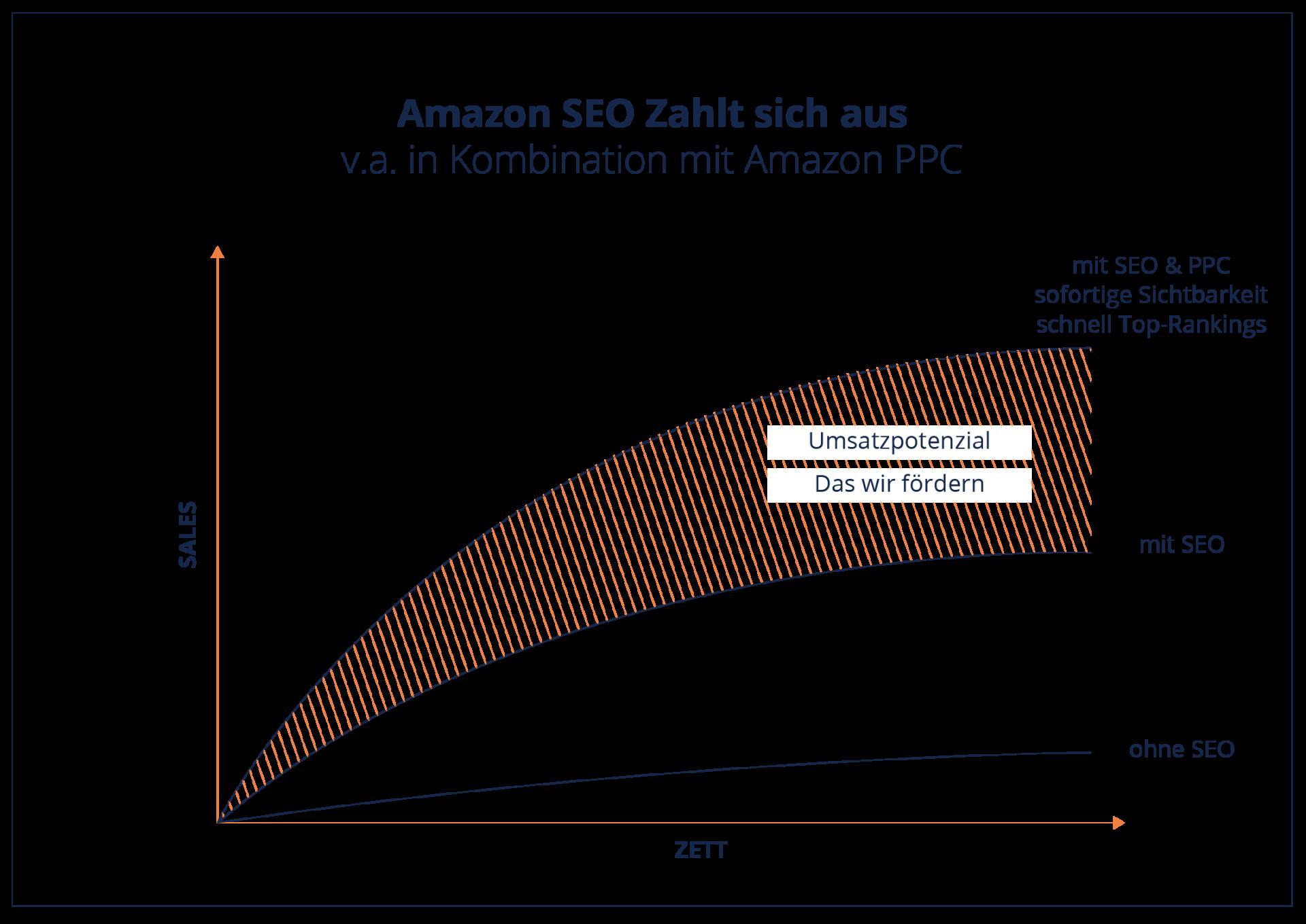 Infografik Amazon SEO zahlt sich aus